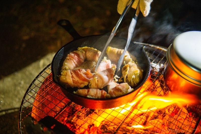 エノキの豚肉巻き炒め
