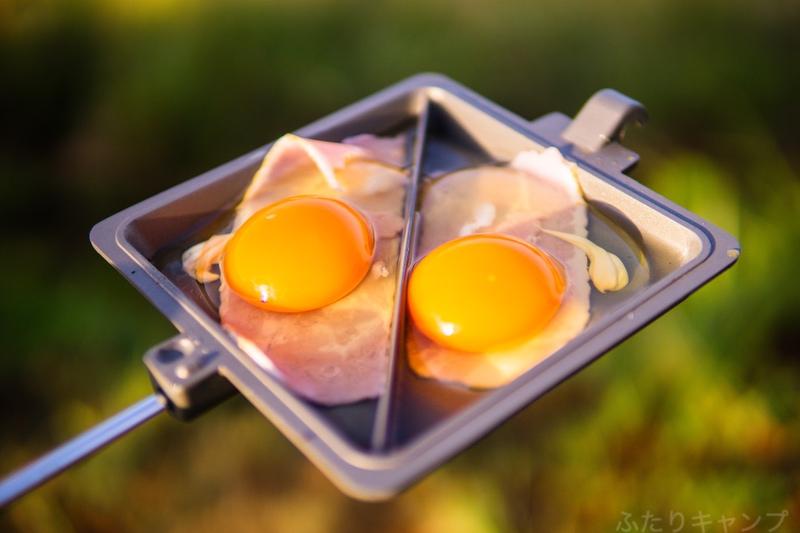 ベーコンと卵
