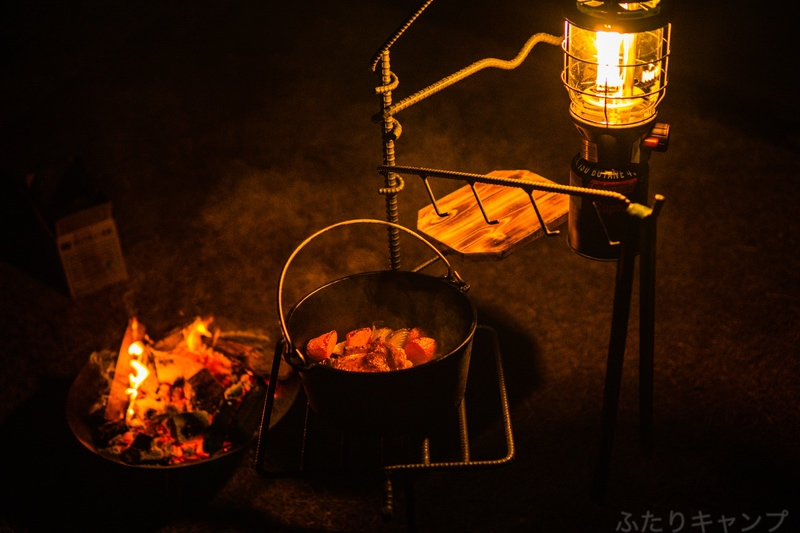 焚き火ハンガー