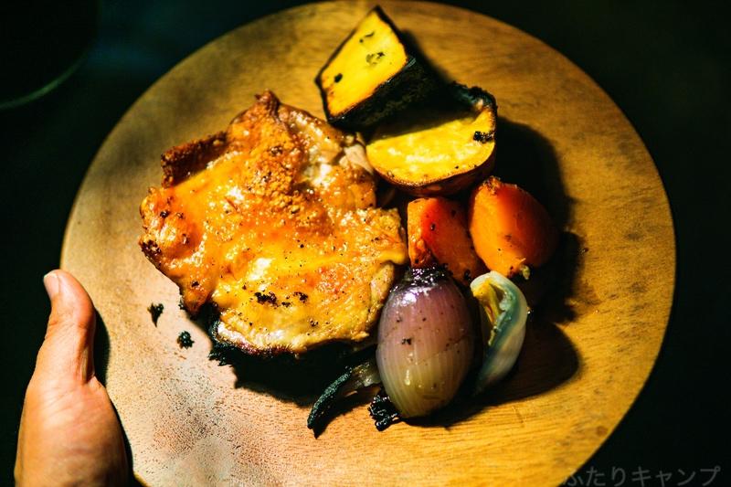 ローストチキンと焼き野菜