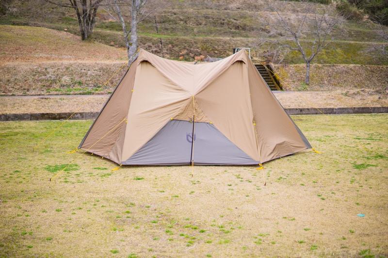 完成したテント